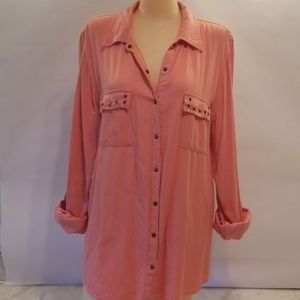 Maurice's Coral Button Up